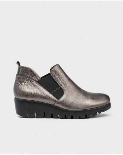 Wonders-Ankle Boots-Metallic leather ankle boot