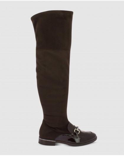 Wonders-Outlet-Over the knee boot with metallic detail