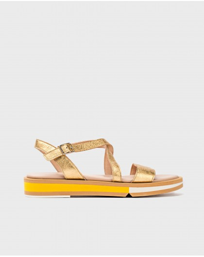 Wonders-Sandals-Sandal with metallic strap
