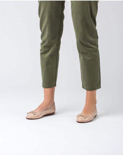 Wonders-Zapatos planos-Bailarina de piel con lazo
