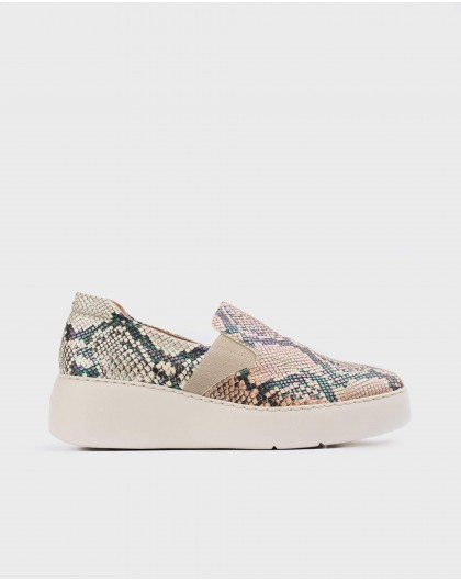 Wonders-Sneakers-Colorful snake print sneaker