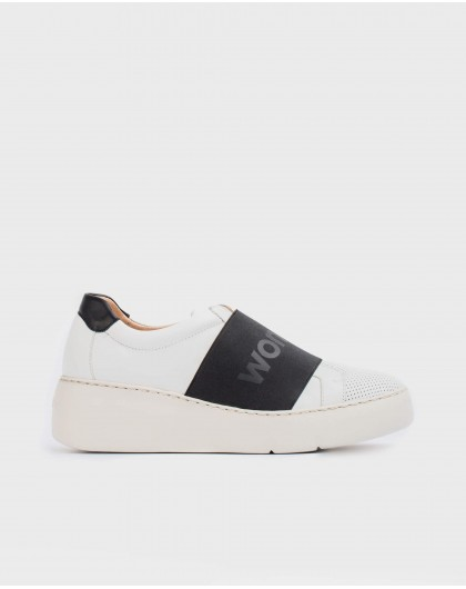 Wonders-Sneakers-Leather sneaker with elastic band