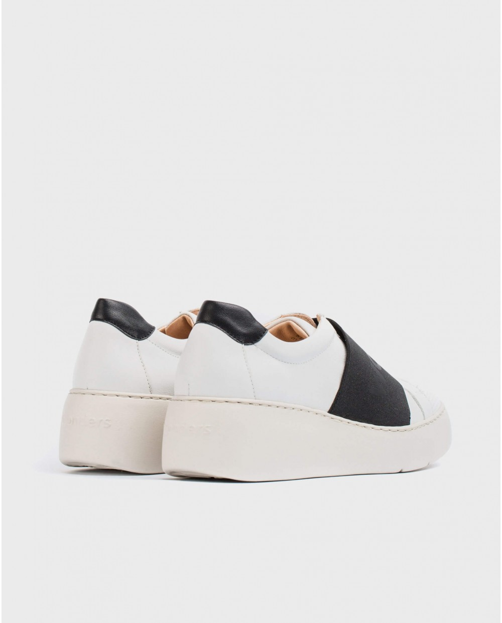 Wonders-Sneakers-Leather sneaker with elastic band