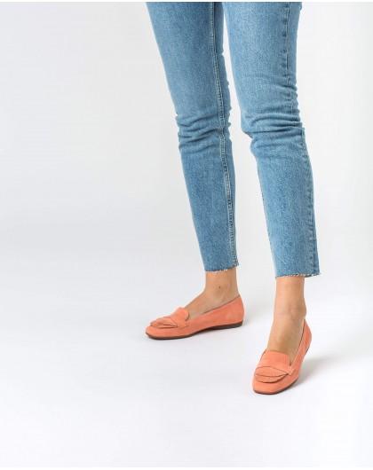 Wonders-Zapatos planos-Bailarina piel doble fleco