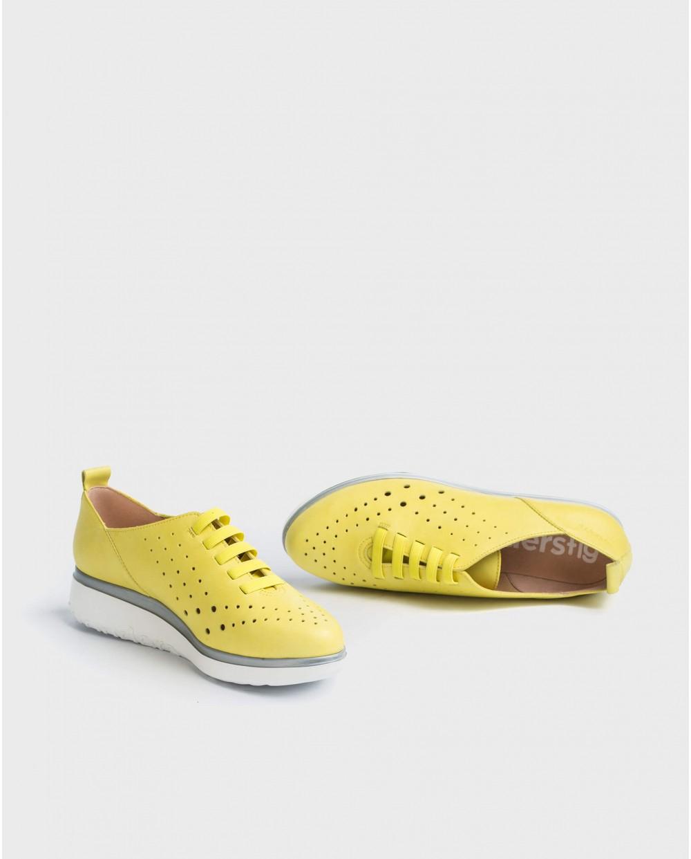 Wonders-Sneakers-Leather sneakers with elastic detail