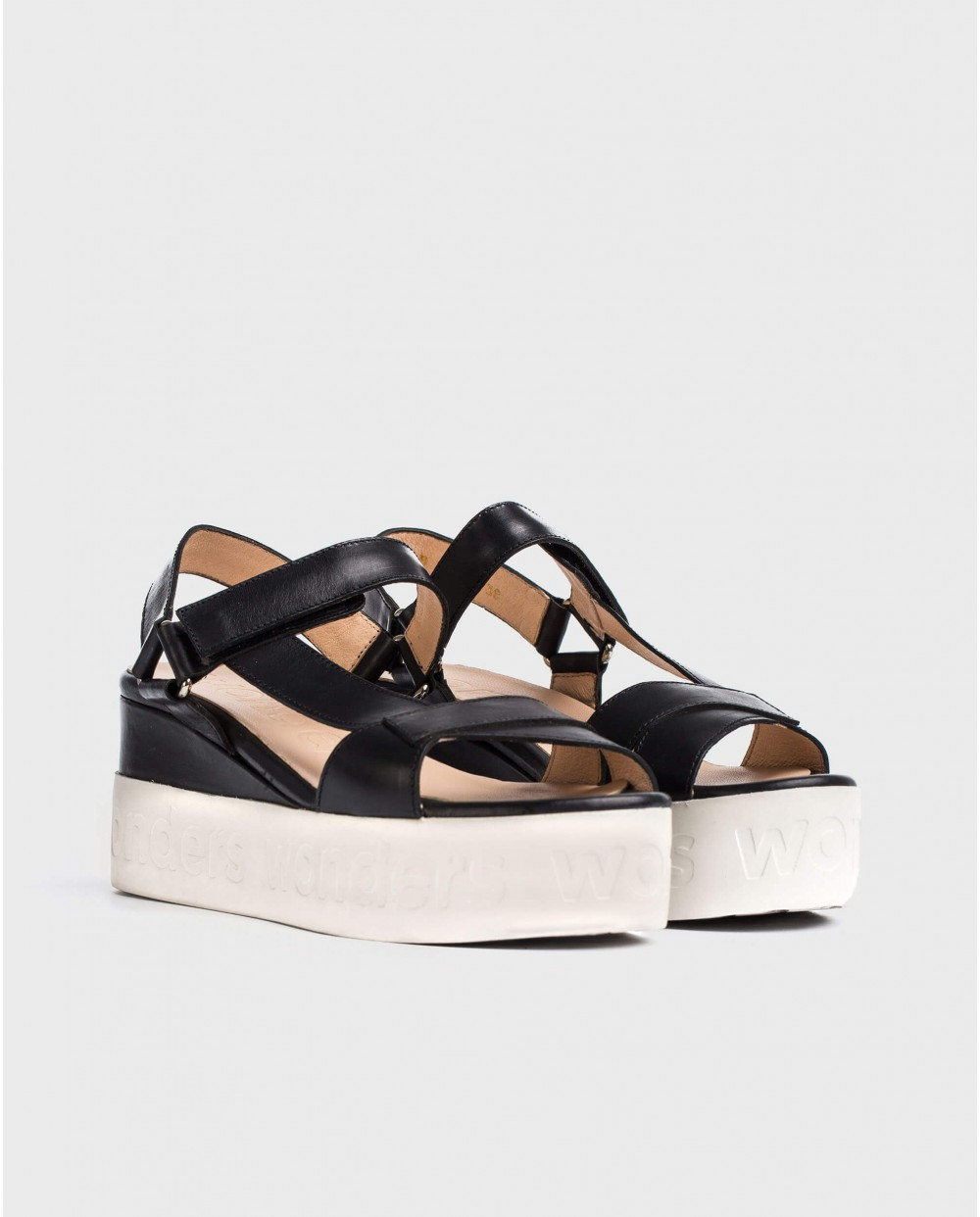 Wonders-Sandals-Sandal with Velcro strap