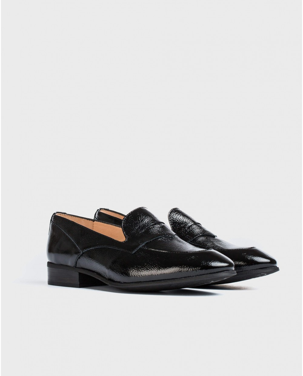 Wonders-Flat Shoes-Patent leather Penny loafer