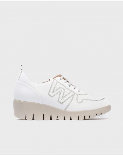 Wonders-Sneakers-Leather sneaker with Logo