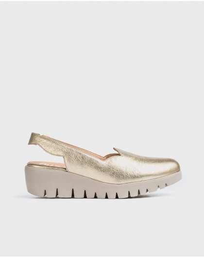 Wonders-Wedges-Metallic wedge shoe