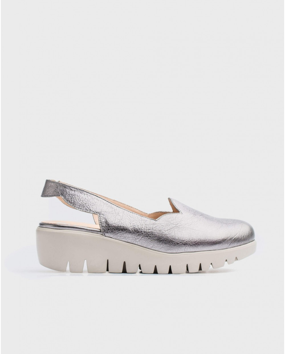 Wonders-Wedges-Metallic wedge shoe