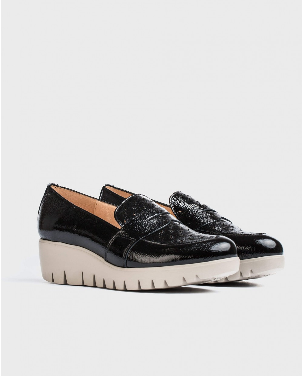 Wonders-Wedges-Moccasin with brogue detail