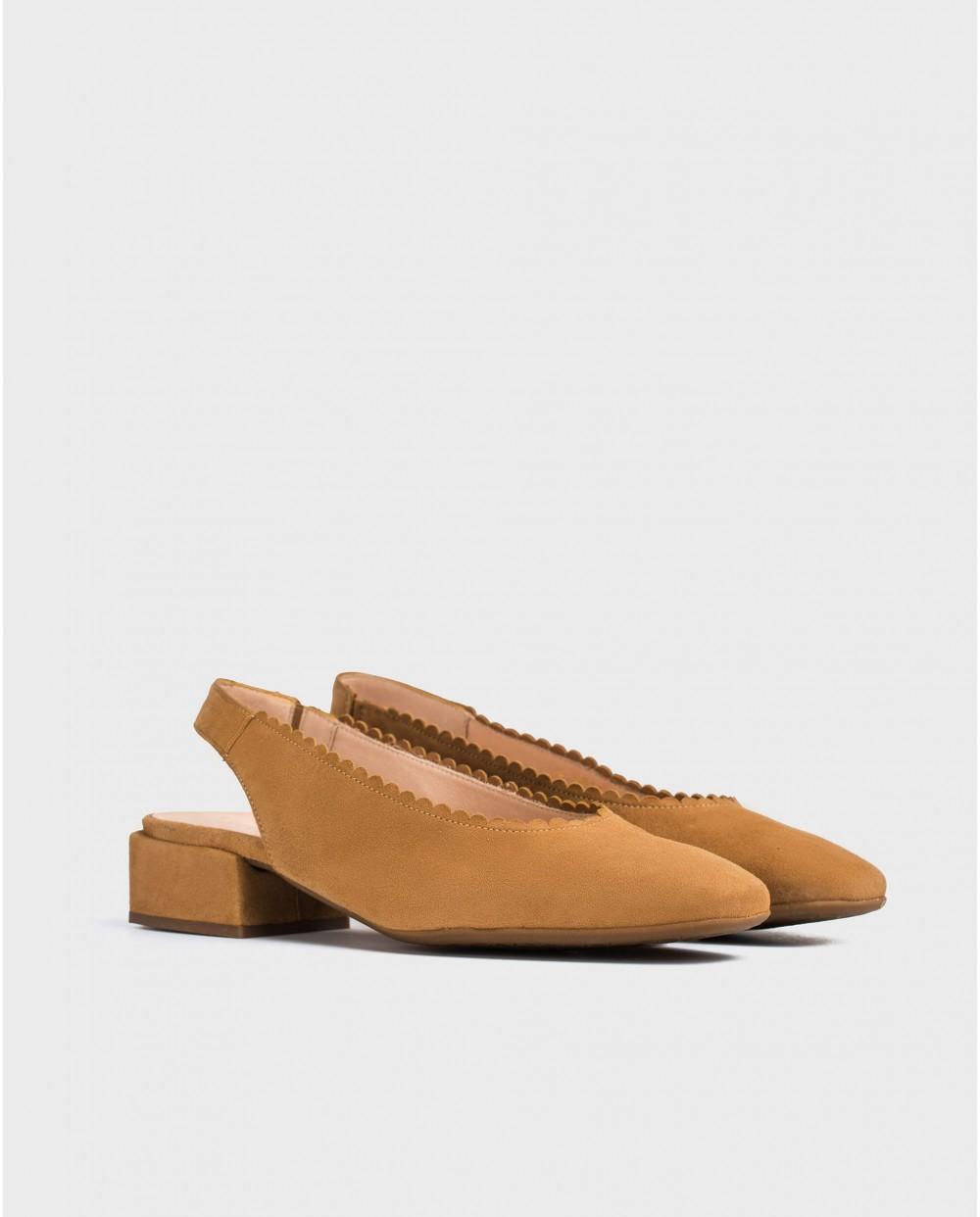Wonders-Zapatos planos-Zapatos de piel detalle circular