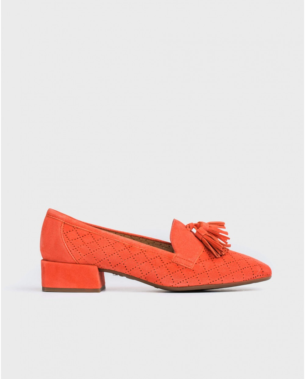 Wonders-Flat Shoes-Leather moccasin with tassel