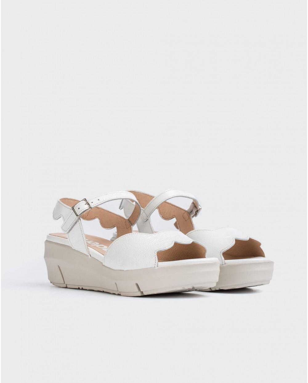 Wonders-Sandals-Sandal with wave/cut detail