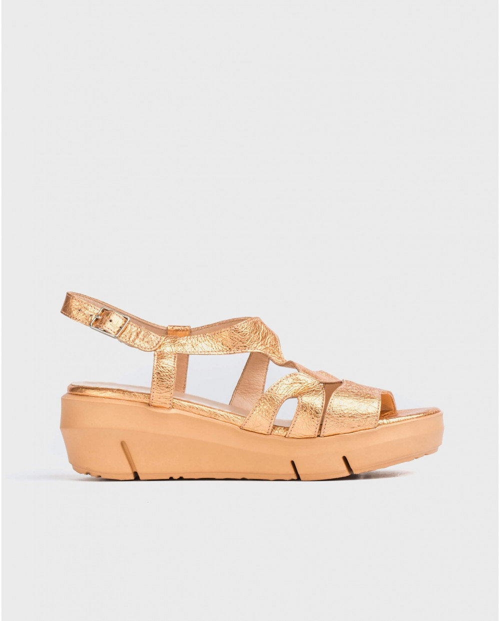 Wonders-Sandals-Strappy metallic sandal