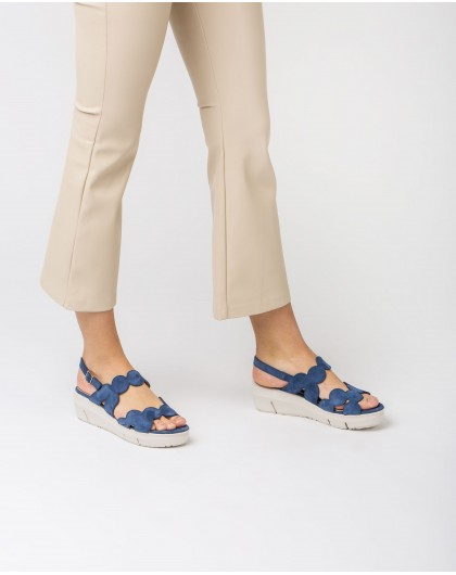 Wonders-Sandals-Sandal with wavy straps
