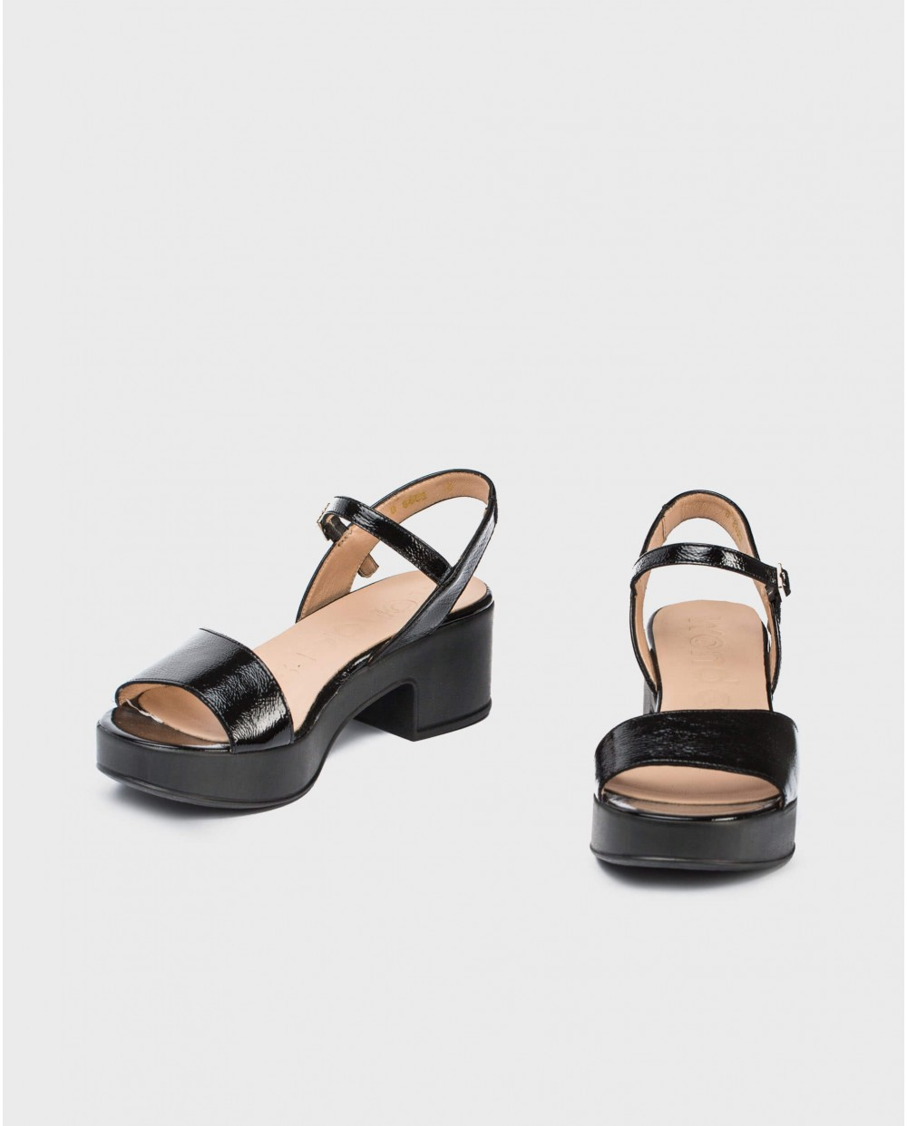 Wonders-Sandals-Leather wedge sandal