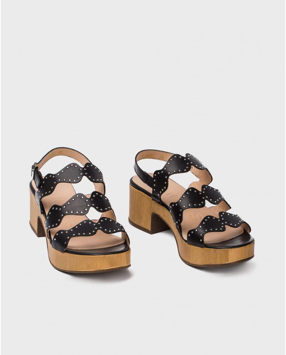 Wonders-Sandals-Sandal with metallic detail on strap