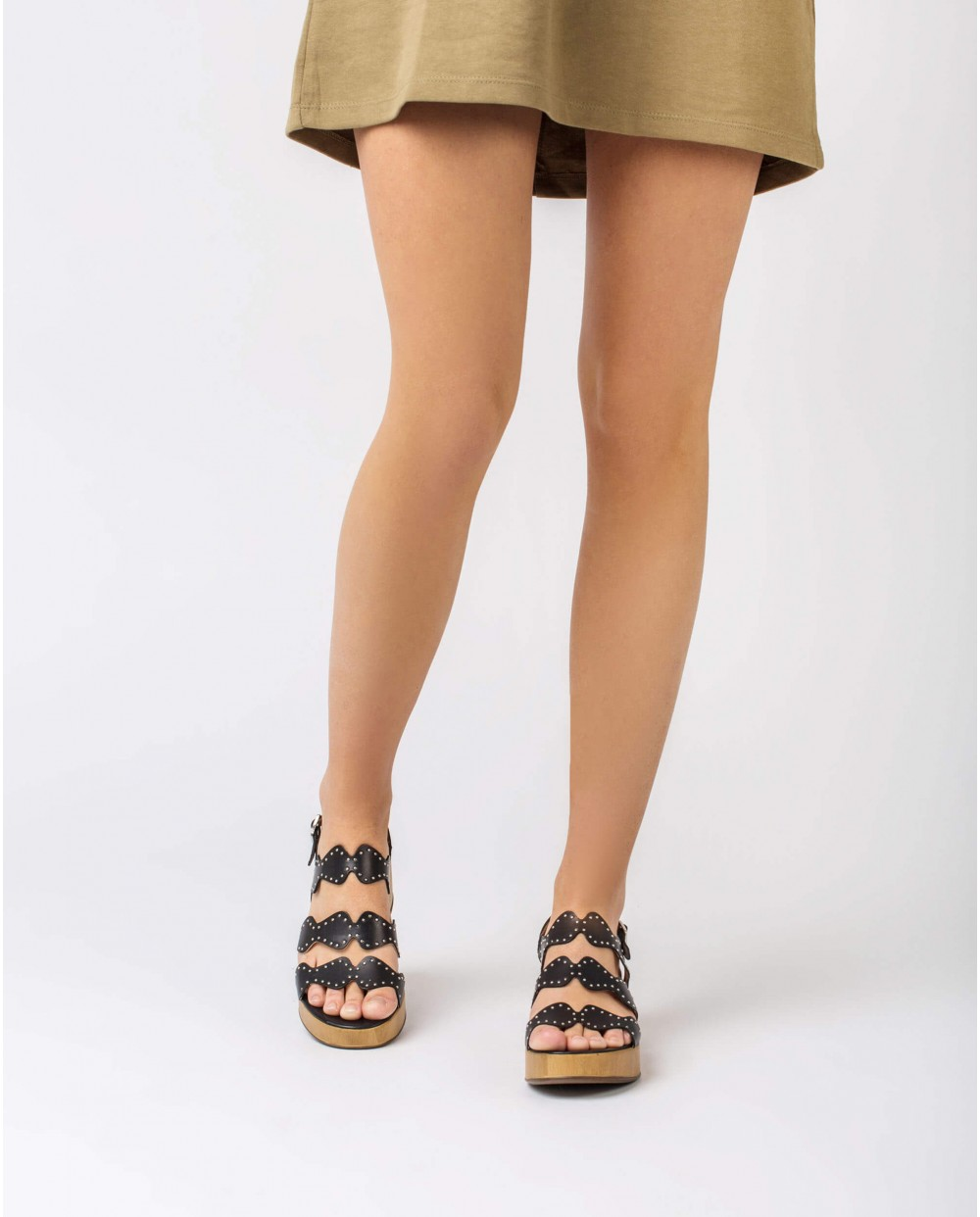 Wonders-Sandals-Sandal with metallic detail on strap