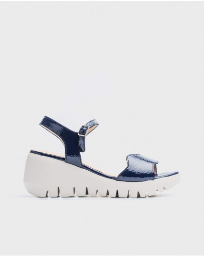 Wonders-Sandals-Patent leather wave sandal