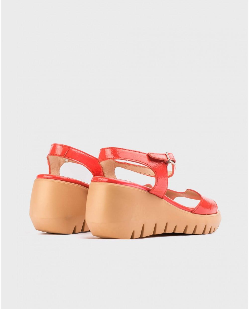 Wonders-Sandals-Patent leather wave sandal