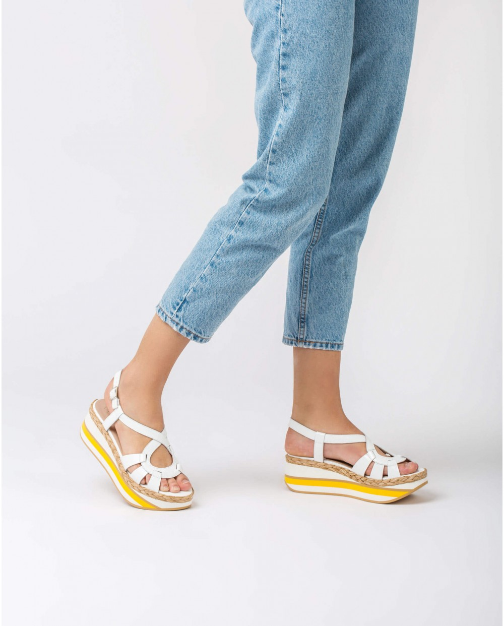 Wonders-Sandals-Sandal with jute plat