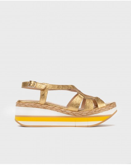 Wonders-Sandals-Metallic jute sandal