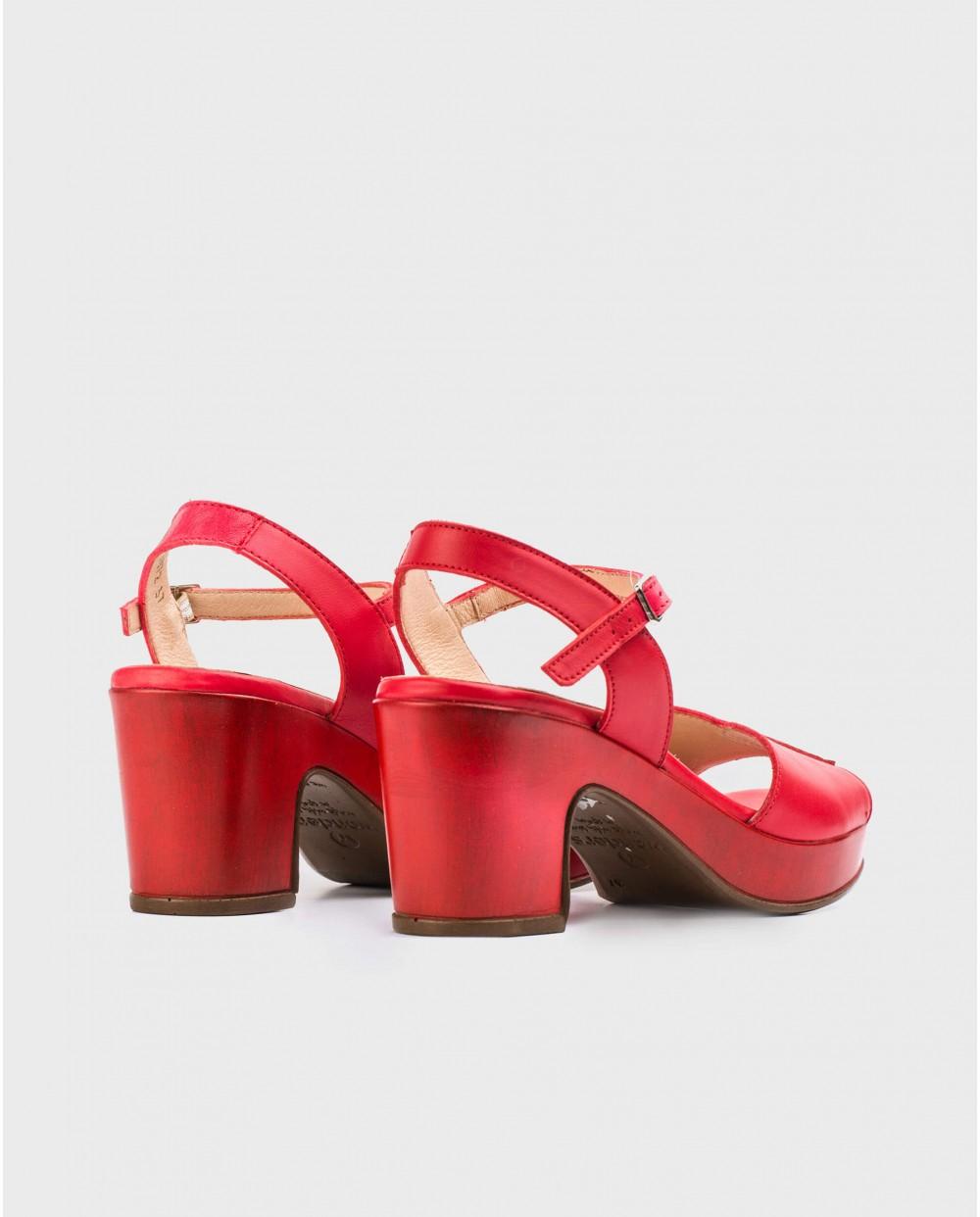 Wonders-Heels-Platform sandal