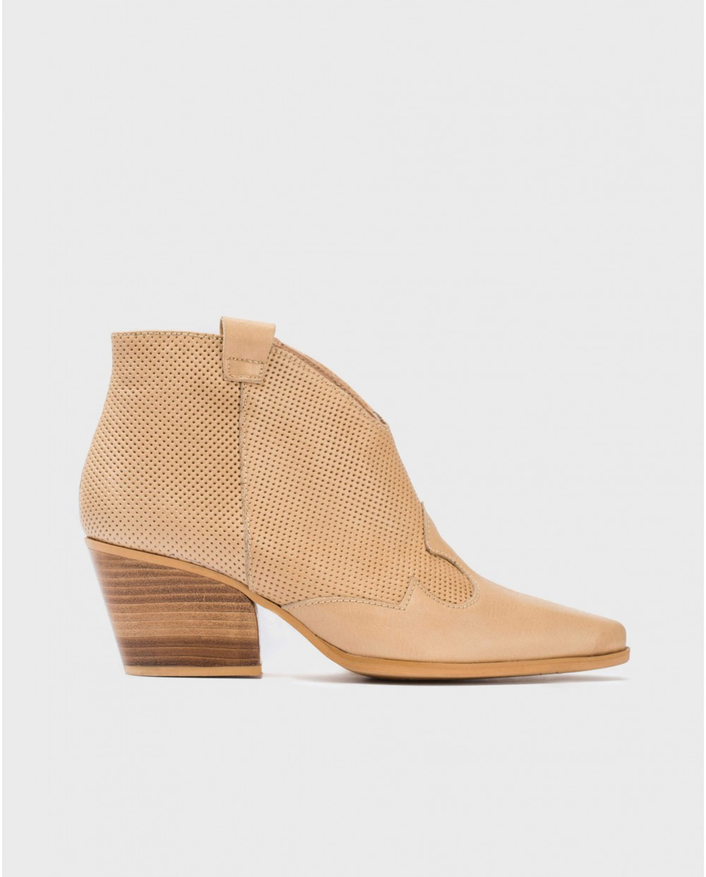 Wonders-Ankle Boots-Micro-perforated leather ankle boot