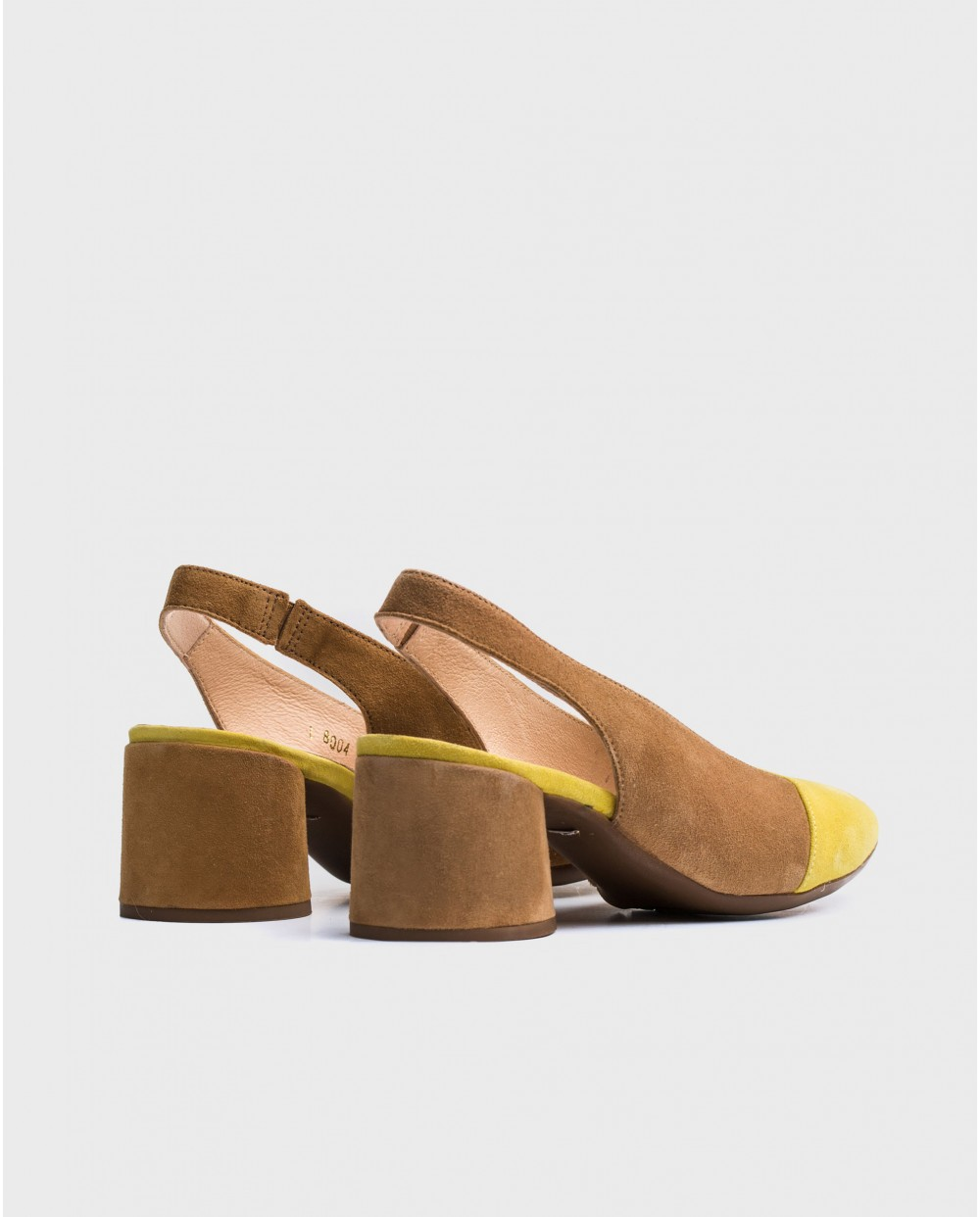 Wonders-Heels-Leather two/tone suede shoes