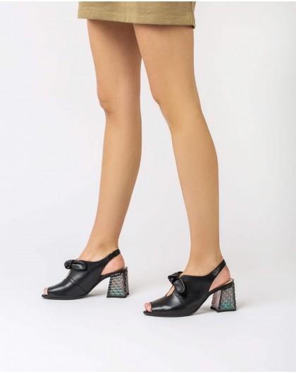 Wonders-Heels-Peep-toe with bow