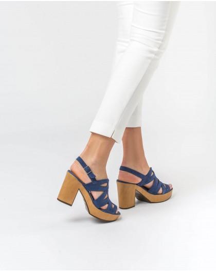 Wonders-Heels-Leather platform sandal