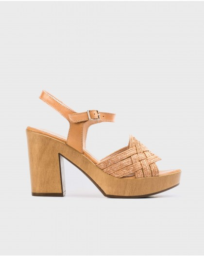 Wonders-Sandals-Platform sandal in jute