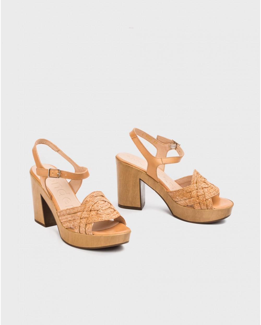 Wonders-Outlet-Platform sandal in jute