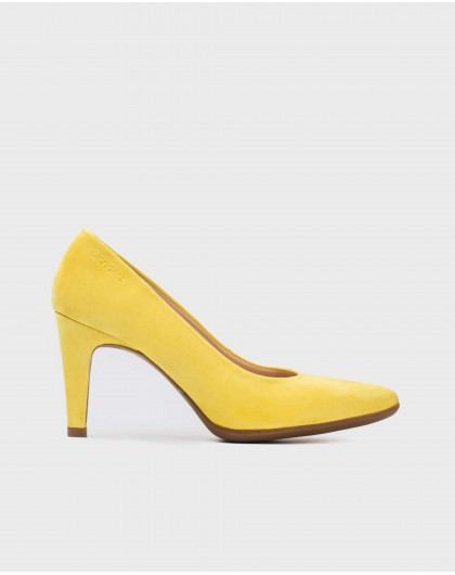 Wonders-Heels-Suede High heeled shoes