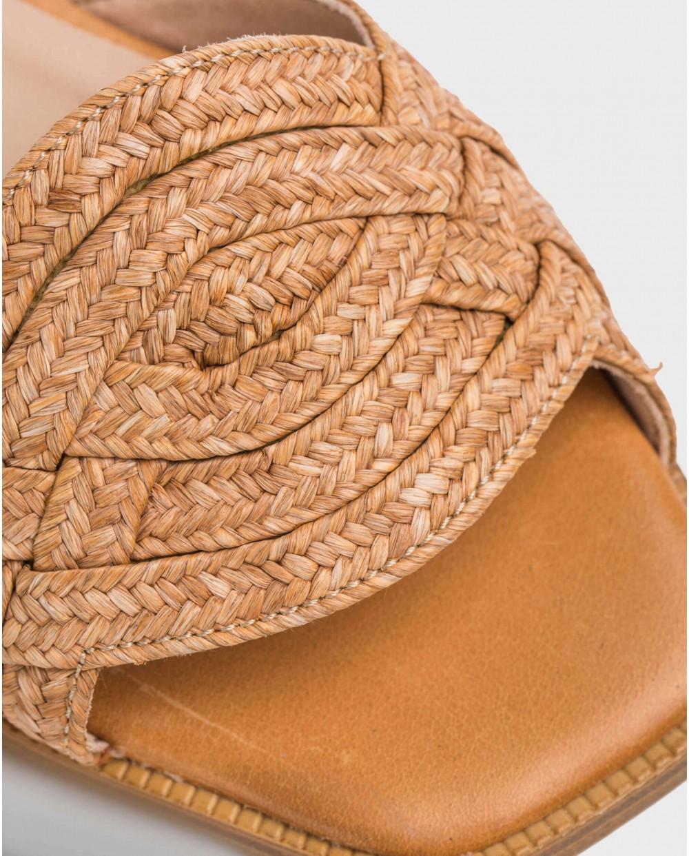 Wonders-Sandals-Sandal with raffia detail