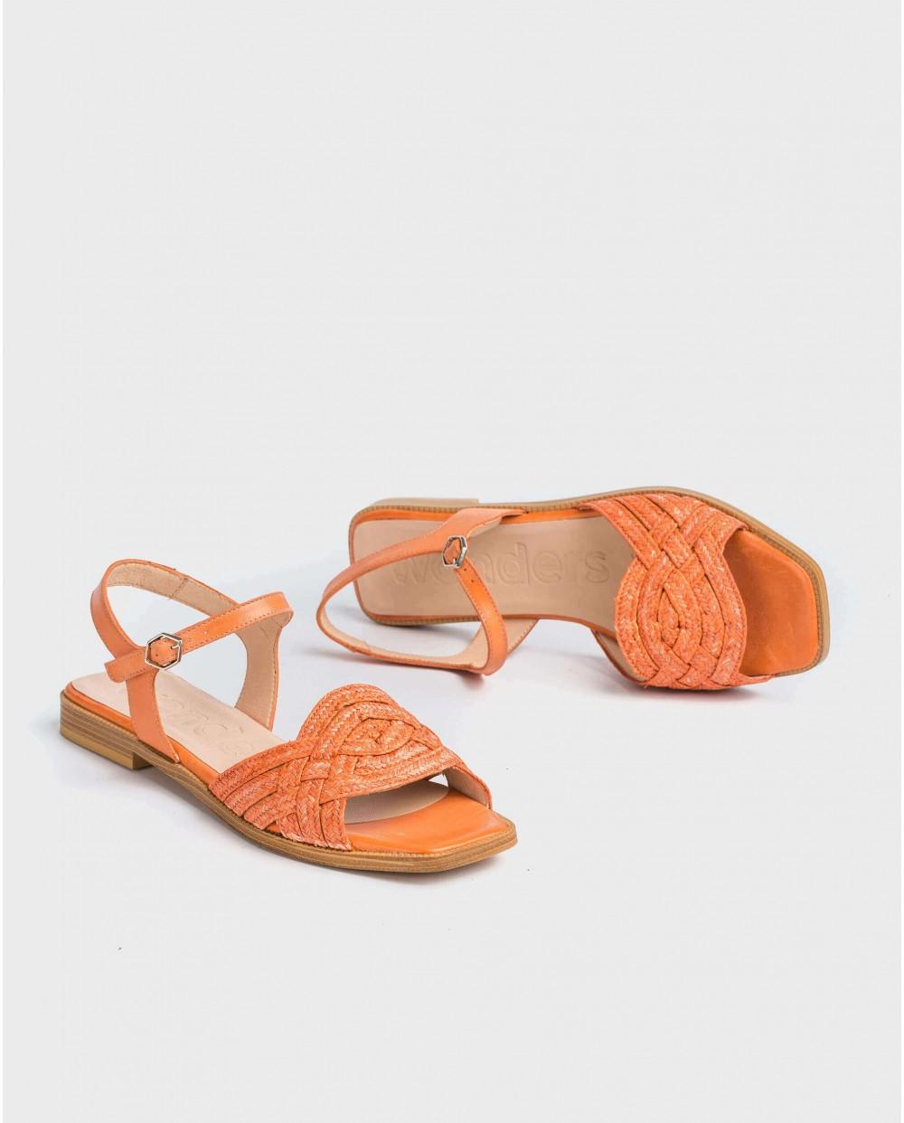 Wonders-Outlet-Sandal with raffia detail