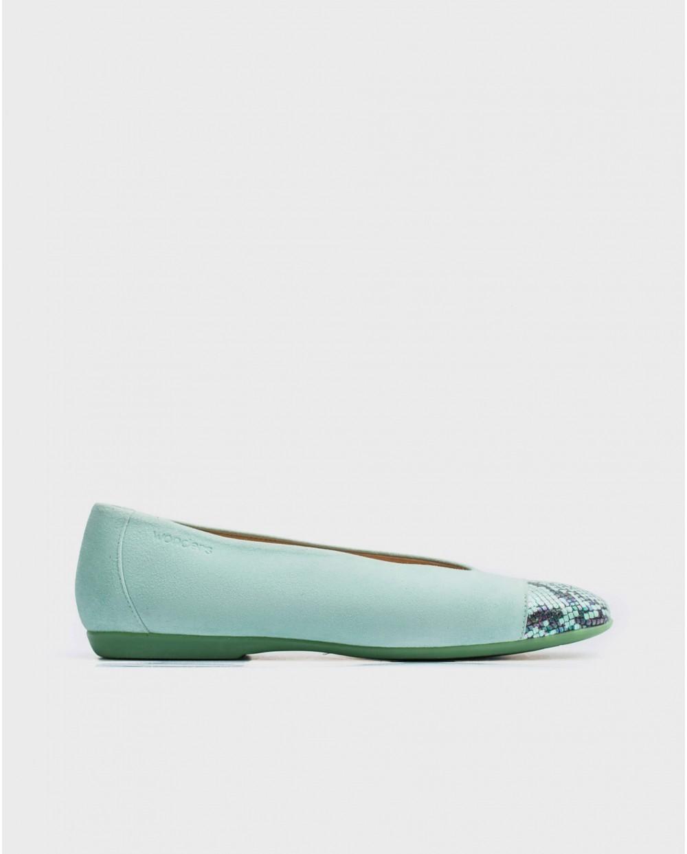 Wonders-Flat Shoes-Snake print ballet pump