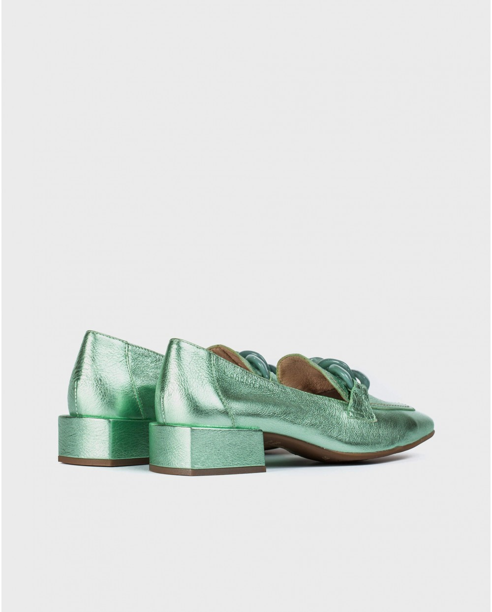 Wonders-Flat Shoes-Moccasin with chain detail