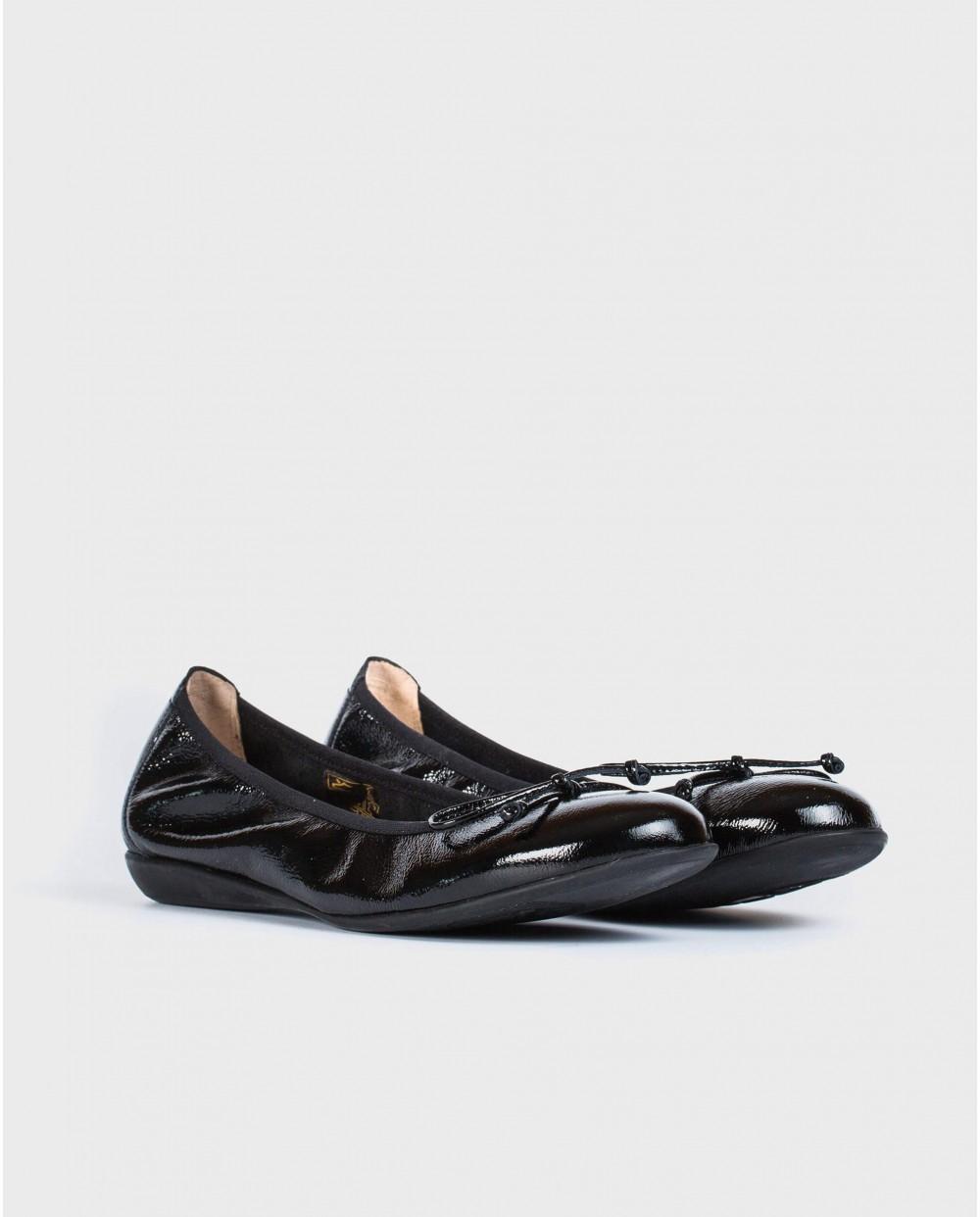Wonders-Flat Shoes-Elastic band ballet pump