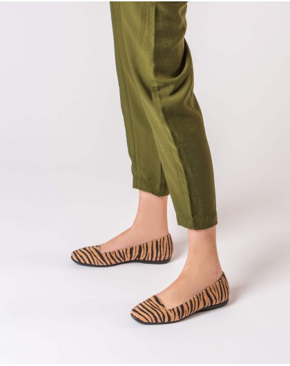 Wonders-Zapatos planos-Bailarina estampado zebra