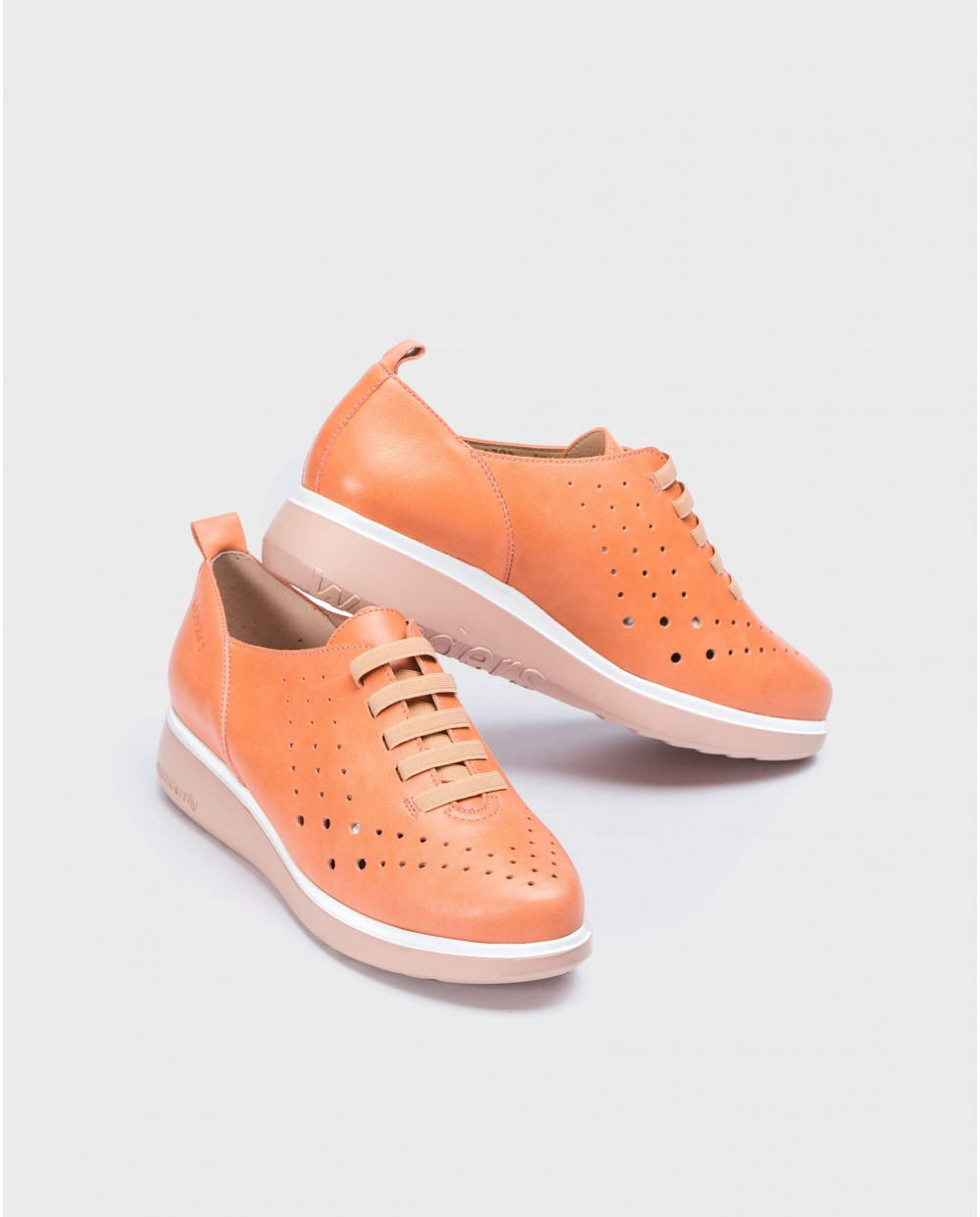 Wonders-Outlet-Leather sneakers with elastic detail