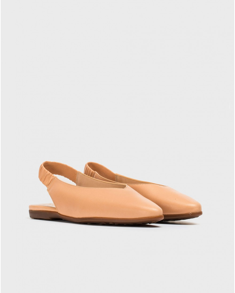 Wonders-Flat Shoes-Leather slingback sandal