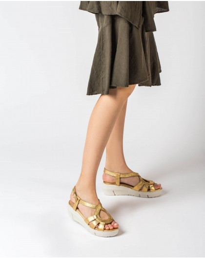 Wonders-Sandals-Leather sandal with criss-cross strap