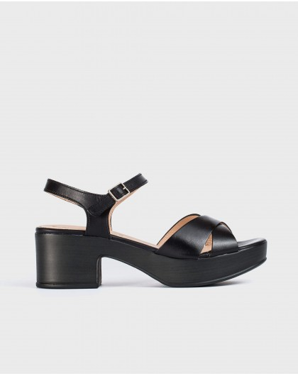 Wonders-Sandals-Leather platform sandal