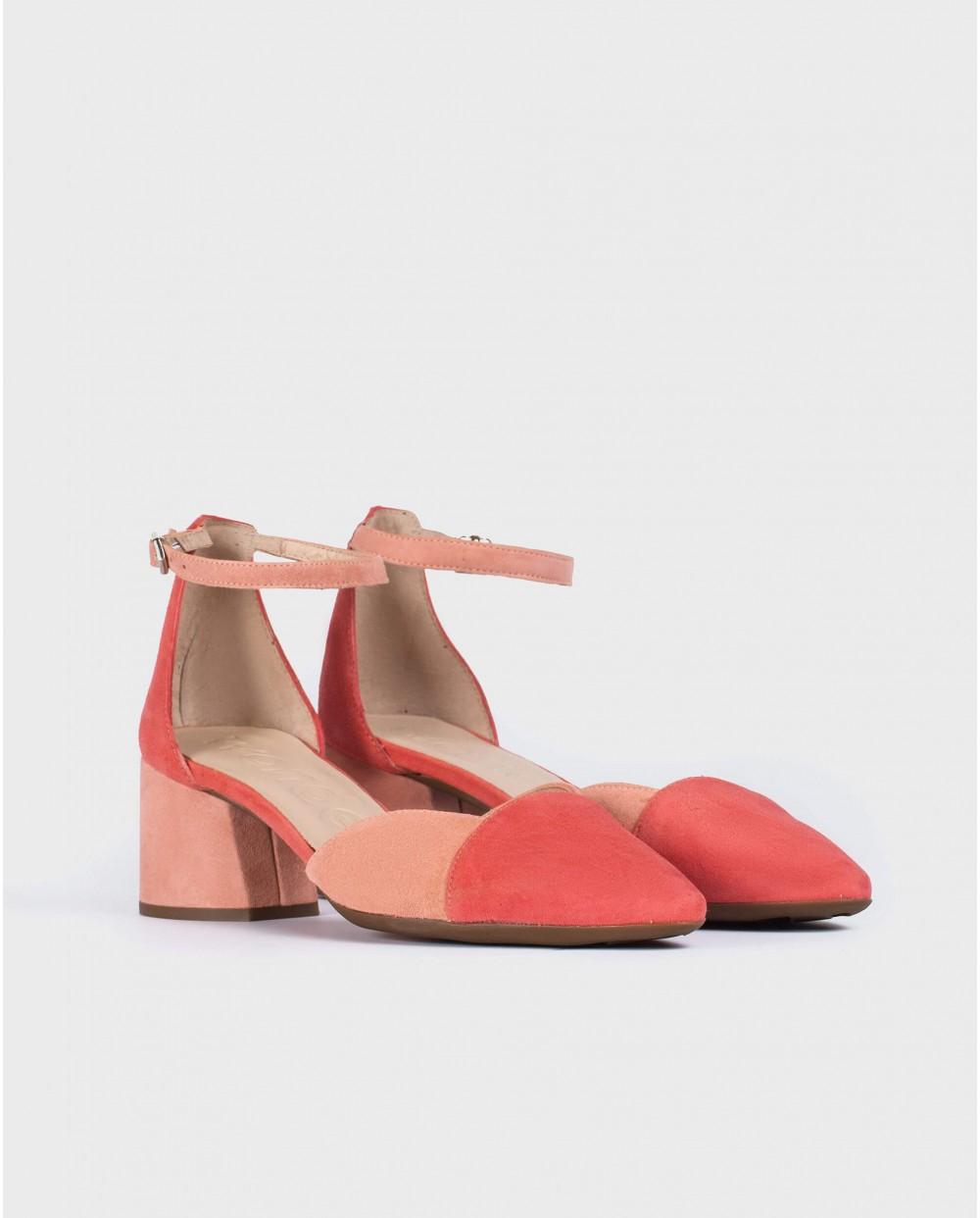 Wonders-Women-Two-tone suede leather shoe