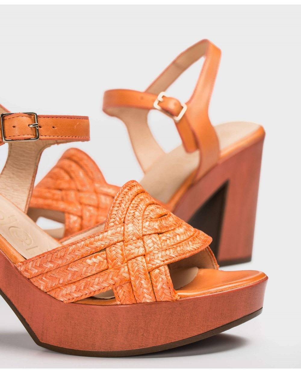 Wonders-Sandals-Platform sandal with plait
