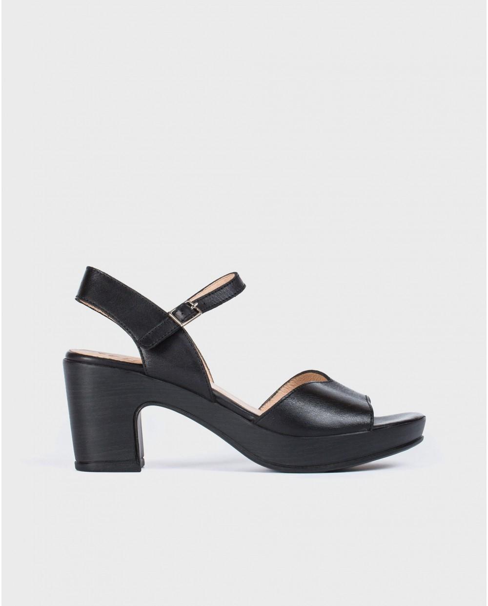 Wonders-Sandals-Platform sandal with irregular strap