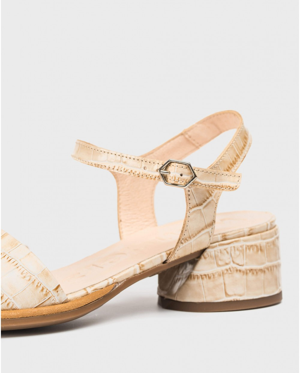 Wonders-Sandals-Mock croc leather sandal