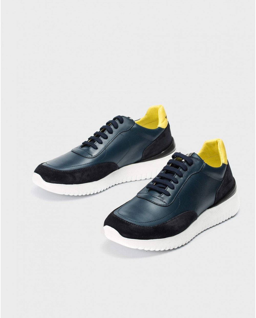 Wonders-Outlet-Leather sneaker with shoelaces